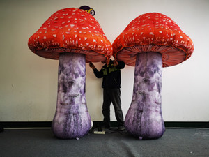 Simulation Series of Poisonous Mushrooms Inflatable Mushroom With Blower and LED Strip for Music Party Decoration