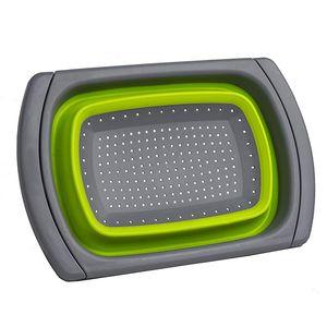 Katlanır Üzeri Lavabo Colander / Süzgeç, Yeşil