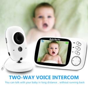Wireless Video Farbe Baby-Monitor mit LCD 2-Wege-Audio Diskussion Nachtsicht-Überwachung Überwachungskamera Anzeige Temperaturerfassung