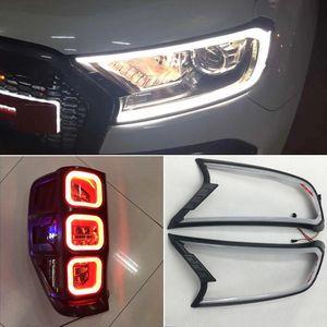 Ford ranger için 1 Set LED DRL ışık kaş araba ışık far far kapağı tamir gündüz çalışan ışık / 2015 2016 2017 2018 Everest
