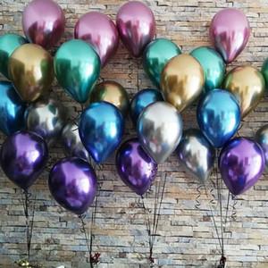 50шт 10 дюймов новый блестящий металл жемчуг латексный шар толстый хром металлический цвет надувные шары Свадьба День Рождения часть украшения