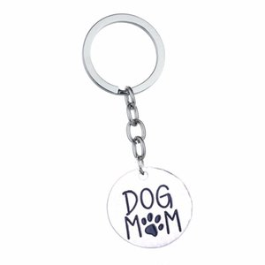 12pcs Lot Dog Mom Pet Paws Pendant Keychain Keyring Women Mommy Family Love Charm Chain Jewelry Mother's Day Gifts