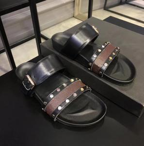 Heiße Verkauf-Sandale Luxus Bom BOM-Dia-flache Maultier-Designer-Dame-Gentlemen bunte Leinwandbuchstabe anatomic Leather Slide 7 Stil 2020 NEU