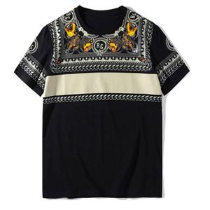 여름 높은 품질면 남성 T 셔츠 소프트 반팔 패션 트렌드 남성 여성 블랙 티를 인쇄