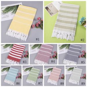 Toalha turca colorido Listrado toalhas de praia Toalhas de Banho De Algodão Presente Spa Ginásio Yoga toalha de Praia Suprimentos de Higiene 100X180 cm EEA370