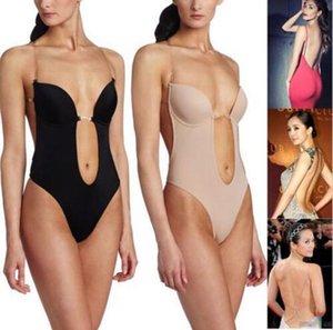 Women's Full Body Shaper Backless Shaperwear Thong Seamless U Plunge Shapers Push up Slimming BodySuit Waist Shaperwear