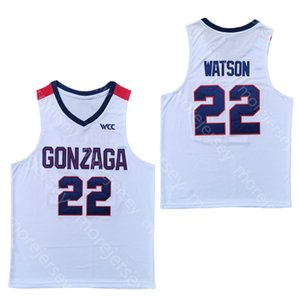 2020 NCAA Gonzaga Bulldogs College Basketball Jersey 22 Anton Watson White All Stitched and Embroidery Men Youth Size