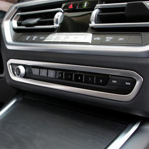 Нержавеющая сталь центральная консоль объем рамка украшения крышка отделка наклейка для BMW 3 серии G20 G28 2020 стайлинга автомобилей интерьер