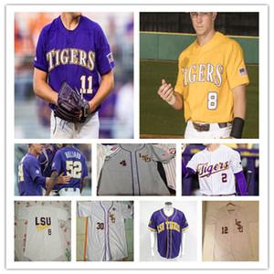 Individuelle 2020 LSU Tigers College-Baseball-Shirt Alex Bregman AJ LABAS COLE HENRY JADEN HILL SAUL GARZA LANDON MARCEAUX Daniel Cabrera 4XL