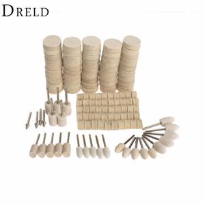 Utensili abrasivi DRELD 129Pcs Dremel Accessori rotella di lucidatura Strumenti in feltro di lana superficie di metallo di lucidatura della rotella di lucidatura per attrezzo rotativo