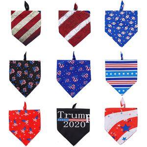 Trump Pet Полотенце 2020 Новых американских избирательного Двусторонний Домашних животные Triangle Полотенца Dog Слюна полотенца зоотовары 100шт T1I2051