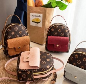 Designer-bolsa de couro Mulheres Mini Backpack Little Kids Bag Packs pequeno Mini Backpack Estudantes Bolsas bonito Bolsas Pequenas / 2