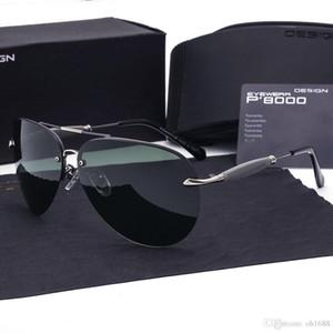 oculos de sol polarizado vakalarla Askeri eyewears Marka tasarımcı Polarize Güneş Gözlüğü erkekler Metal Alaşım Sürüş Güneş Gözlükleri Kare Vintage