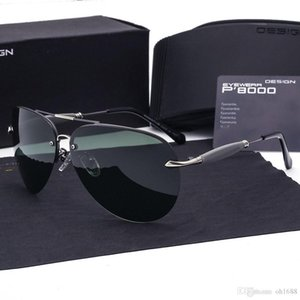 Brand designer Polarized Sunglasses men Metal Alloy Driving Sun Glasses Square Vintage oculos de sol polarizado Military Eyewears with cases