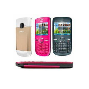 Remis à neuf Nokia C3-00 Téléphone débloqué 2,4 pouces à écran 2MP caméra Bluetooth FM JAVA 2G GSM Téléphone portable pas cher 1pcs