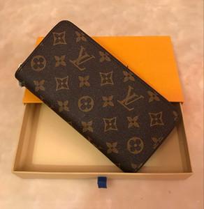 Carteira Zippy VERTICAL a maneira mais elegante para transportar cerca de dinheiro, cartões e moedas homens de luxo bolsa de couro titular do cartão carteira longa