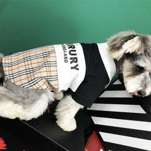 Primavera Queda Elegante Pet T-shirt Letter Moda Impresso Pet camisas ao ar livre respirável Pet Cat camisa para cães
