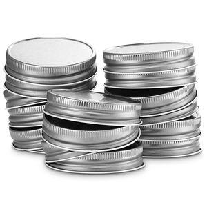 Mason Jar Lids Regular Mouth, Leak Proof and Secure, 12 Pack (Silver)