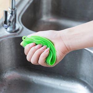 Silicone Dish limpeza bacia Brushes multifuncionais 5 cores Esfregão Pot Pan Wash Brushes Cleaner Cozinha Prato de lavagem Ferramenta VM3224