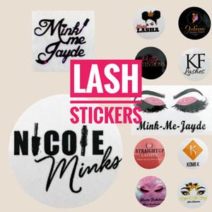 Diseños su logo Logotipo pestañas Lash y privado etiqueta autoadhesiva (utilizado para pestañas naturales Bastante 3D Mink pestañas pestañas postizas 15-25mm)