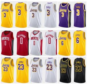 New 3# DAVIS Yellow White Purple 6# JAMES 2019 City Version Quick Dry Breathable Sportwear Jerseys 0# Westbrook Stitched Sports Jersey S-XXL