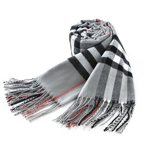 Designer Scarf Luxury Scarf Winter Cashmere High-end Soft Thick Cashmere Brands Scarf Fashion Plaid Men's and Women's Scarfs