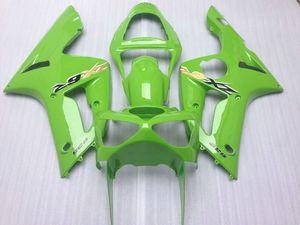kit molde Fairing injeção para KAWASAKI NINJA ZX 6R 600cc 03 04 ZX6R 636 2003 2004 carenagens verdes personalizado definido ZX61