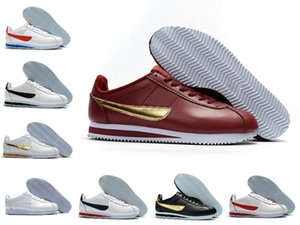 2020 Classic Cortez NYLON RM informal corriendo Negro Rosa Rojo Blanco Azul Ligera Run barato Cortez Zapatos de cuero BT QS zapatillas de deporte del zapato Tn