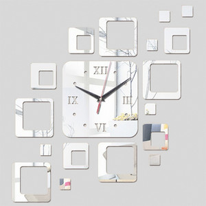 2018 Time-Limited Quartz Wall Clocks Home Decor New Special Offer Mirror Acrylic Clocks Modern Watch Sticker Free Shipping Wall Clocks