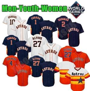 27 Jose Altuve Houston Jersey Astro 2 Alex Bregman 34 Nolan Ryan 7 Craig Biggio 4 Jerseys de béisbol de George Springer
