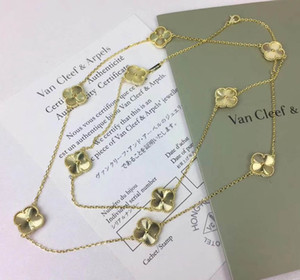 longitud los 88CM Nuevo collar de la llegada de latón con la flor en las flores 10pcs Colver colgante para las mujeres de la boda regalo de la joyería PS6051 envío de la gota