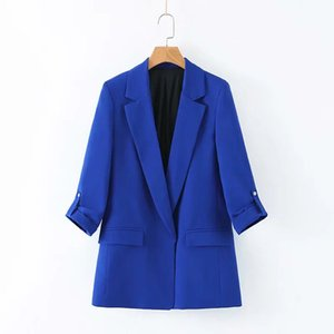 2019 New Products INS Europe And America WOMEN'S Dress Solid Color Suit Jacket