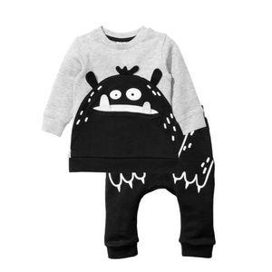 0-3Y Newborn Baby Boy Outfit Clothes Cartoon Sweatershirt Top + Pants Leggings 2pcs