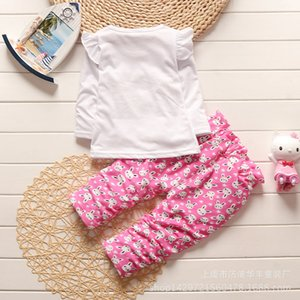 Fashion Girls Spring Casual Clothing Sets Children T-shirt Pants 2 Pcs Sets Kids Cute Out Clothes 2020 Toddler Autumn Tracksuits