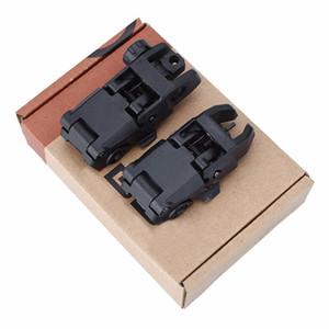 20mm 레일 Gen1 전술 접는 전면 / 후면 플립 백업 시력 Buis 2 개 세트