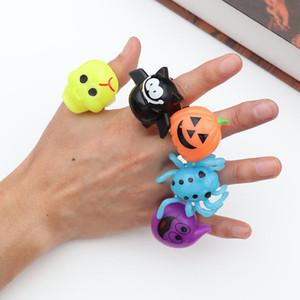 2019 Cadılar Bayramı Hediyeler Parti Parmak Led Parlak oyuncaklar Kabak Taro Kabak Bat Halka Halloween Malzemeleri çocuklar oyuncakları