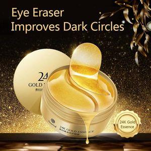 Hot 60pcs 30pair 24K Gold Collagen Eye Mask Sleep Crystal Eye Patch Moisturizing Dark Circles Remover Eyes Mask Eyes Care