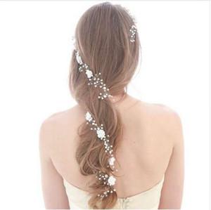 nuovi arrivi 120cm sposa accessori per capelli fatti a mano da sposa fiore gioielli accessori Capelli lunghi Vine fascia Bridesmaids capelli per le donne