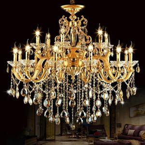 الذهب الثريا كلاسيكي LED كريستال الثريات lamparas دي المناطق التكنولوجية الثريات colgante مودرن الإضاءة الحديثة تركيبات الإضاءة