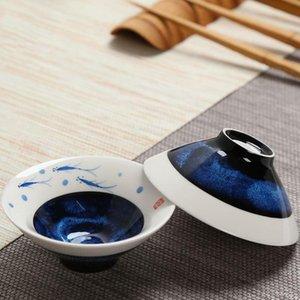 2019 45ml Yaratıcı El Boyalı Desen Porselen Şapka Kupa Ofisi Çay Töreni Usta Küçük Teacup Sake Mini Çanaklar Drinkware
