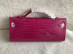 새로운 클래식 클러치 지갑 가방 악어 봉투 가방 레이디 핸드백 여성 플래티넘 가방 동전 지갑 정품 가죽 토트 백 지갑