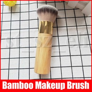 Cepillos de bambú del maquillaje con la marca Cream Puff Profesional Sueltos polvo de fijación cepillo cosméticos de belleza Herramientas