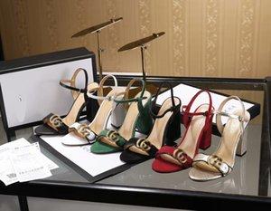 20bL6 with box transparent sandals women real leather studs high heels sandal 35-40 Rivet transparent slippers slide sandals flip flops