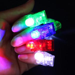 500x Производители Продажа LED Finger лампы LED Finger подарки Кольцевые огни Glow лазерные пучки пальцев Светодиодный проблесковый кольцо партия флэш Детские игрушки 4 цвета