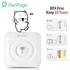PeriPage Portable Thermal Bluetooth Принтер Мини Фотографии Принтер для мобильных Android IOS Phone 58mm Pocket Machine