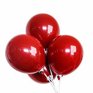 10 pulgadas de perlas de látex globos aniversario de boda de San Valentín Día de fiesta de cumpleaños decoración helio inflable Balaos Suministro