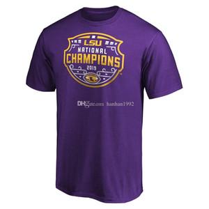 НКАА LSU Тигры фанатики фирменных колледж футбол плей-офф 2019 Национальный календарь шарить Чемпионов t-рубашка любителей топы тис Принед коротким рукавом
