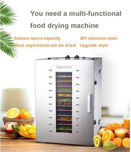 16 strati commerciale secca Verdure Frutta Fruit Machine Disidratazione cibo Air Dryer Pet Food Dryer Home Salute efficiente