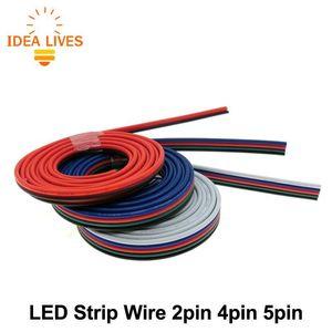 단일 색상 / RGB / RGBW LED 스트립 연결, 1m / 많은 액세서리 조명 2 핀 4 핀 5 핀 전선