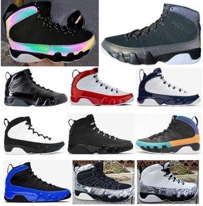 Yeni 9 Racer Mavi Bukalemun Gym Kızıl Rüya It Do It UNC Space Jam Antrasit Basketbol Ayakkabı Erkek 9s Sneakers ile Kutusu Bred